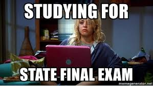 Memes About Final Exams - studying for state final exam penny the big bang theory meme