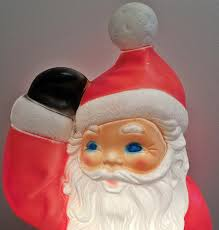 plastic blowmold 40quot christmas santa claus outdoor yard decor