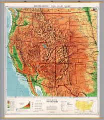 Map Of Northwest United States by United States Western Physical Political David Rumsey