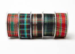 plaid ribbon 1 5 tartan plaid ribbon may arts wholesale ribbon