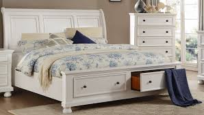 White Sleigh Bed Homelegance Laurelin White Sleigh Storage Bedroom Set Laurelin