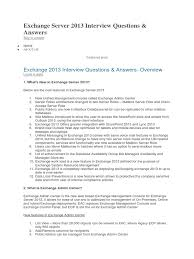 exchange server 2013 interview questions microsoft exchange