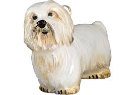coton de tulear glass christmas ornament by joy to the world