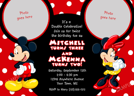 Free Mickey Mouse Baby Shower Invitation Templates - mickey mouse clubhouse invitation for birthday party mickey