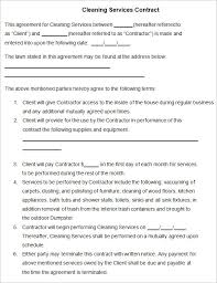 cleaning contract template 27 word pdf documents download