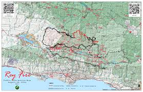 California Wildfire Fire Map by Rey Fire Information