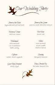 wedding program templates free wording program sles