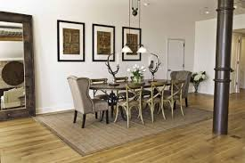 dining room rustic dining room with khaki tone and 9 pieces rustic dining room with khaki tone and 9 pieces dining sets with two wing back chairs and six cross bsck leggy chairs with carpet