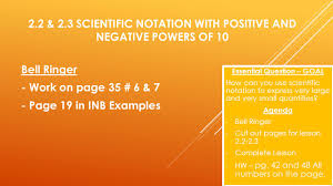 working with scientific notation 2 2 2 3 scientific notation with positive and negative powers of