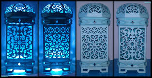 paper lamp moroccan inspired design cut and fold youtube