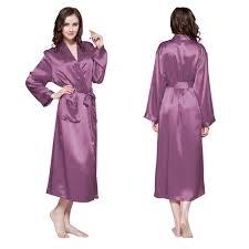 robe de chambre longue robe de chambre en soie longue classique