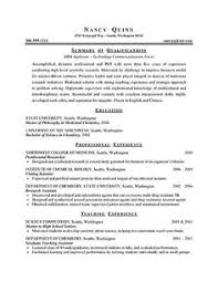 Samples Of Resumes by Example Of Resume For Graduate Examples Http Www