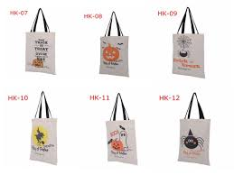christmas shopping bags 100pcs 6 types tote bags with black handle pumpkin