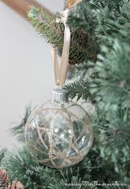 handmade glittery clear glass ornaments hometalk