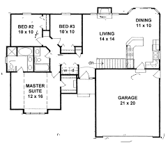 ranch style house plan 3 beds 2 baths 1162 sq ft plan 58 159