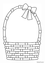 coloring pages decorative basket coloring page easter 20basket