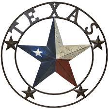 texas star in a circle clipart