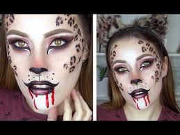 leopard cheetah halloween makeup tutorial youtube