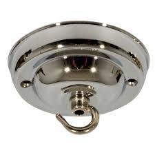 Chrome Pendant Light Fitting by Modern Chic Ceiling Rose Hook Plate For Light Fitting Chandelier