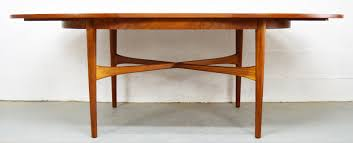 Mid Century Modern Sofa Table by Mid Century Teak Extendable Oval Dining Table From Beithcraft For