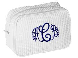 bridal makeup bag personalized cosmetic bag with monogram personalized brides