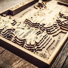 3d wood of thrones map 3d wood map limited edition map of thrones