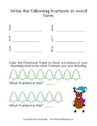 christmas themed fractions fun worksheets and games by jaclyn