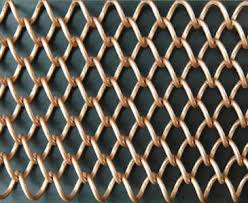 Metal Coil Drapery Decorative Woven Wire Mesh For Buildings And Hotels