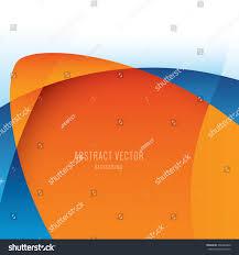 Colors Orange Vector Abstract Background Modern Orange Blue Stock Vector 268382420