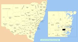 map of new south wales local government areas of new south wales