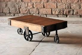 railroad cart coffee table diy cart coffee table coffee table wonderful of industrial coffee