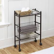 Bathroom Storage Cart Chapter Bathroom Storage Cart With Top Shelf And Two Storage