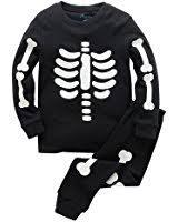 amazon com girls halloween pajamas kids pjs skeleton glow in the
