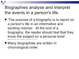 biography definition and characteristics powerpoint biography analysis