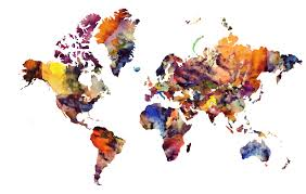 Old World Map Wallpaper by Watercolor World Map Watercolor World Map Wallpaper Cim Logo