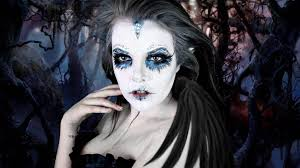 dark evil pixie halloween makeup tutorial cherry wallis youtube