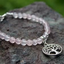 bracelet quartz rose images Bracelet arbre de vie quartz rose atelier depierre jpg