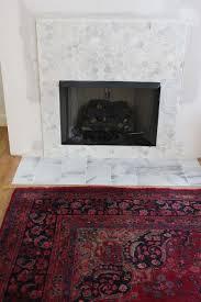 faux fireplace surround creative tiles decoration