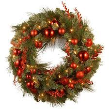 best battery operated wreaths with timer left coast decor