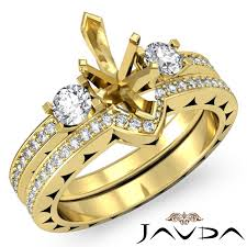 style marquise wedding band sets with gold marquise