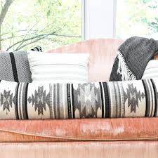 black and white geometric pillow lumbar pillows the citizenry