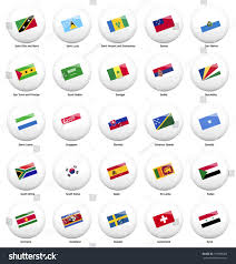 Flag Of All Countries White Pin Badges Flag All Countries Stock Vector 179586269