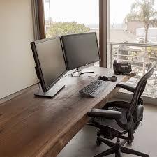 live edge computer desk custom live edge black walnut slab desk by taylor donsker design