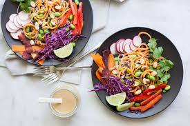 sweet potato and soba noodles with spicy peanut sauce bourbon