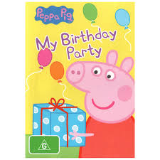 peppa pig birthday peppa pig my birthday party dvd big w