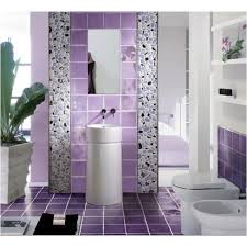 Purple Bathroom Accessories by Purple Bathroom Design With Ornamental Plants Purple Bathroom