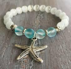 simple beaded bracelet images Starfish bracelet boho jewelry beach jewelry charm bracelet jpg