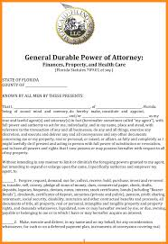 Power Of Attorney General by 10 Florida General Durable Power Of Attorney Form Action Plan