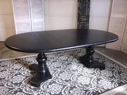 Black Oval Dining Room Table - black extending pedestal dining table entri ways