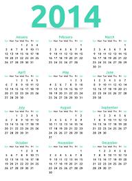 calendar 2014 52 free vector graphic download